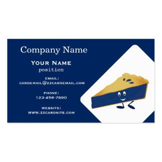 Smiling Blueberry Pie Pack Of Standard Business Cards