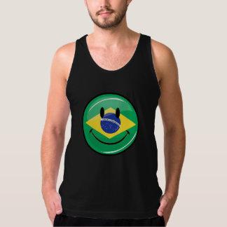 Smiling Brazilian Flag Singlet