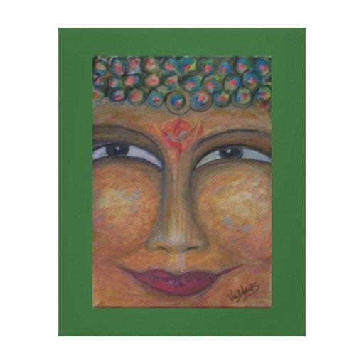 Smiling Buddha by ValAries Canvas Print