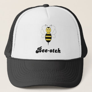 Smiling Bumble Bee Bee-otch Hat