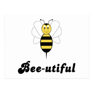 Smiling Bumble Bee Bee-utiful Postcard