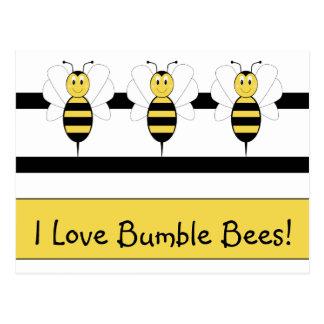 Smiling Bumble Bee Postcard