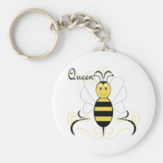 Smiling Bumble Bee Queen Bee Keychain
