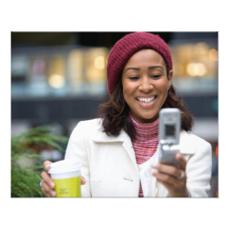 Smiling Business Woman with Cell Phone Photo