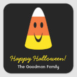 Smiling candy corn fun cute Halloween favour tag