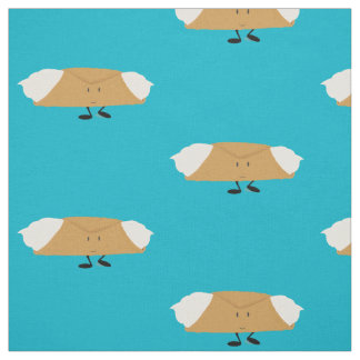 Smiling cannoli fabric