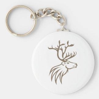 Smiling Caribou Deer Key Ring