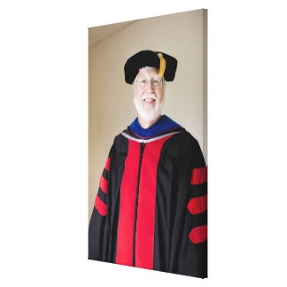 Smiling Caucasian profession in formal robe Stretched Canvas Print