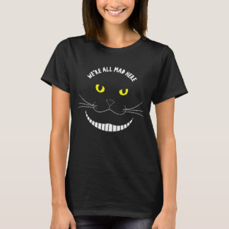 Smiling Cheshire Transparent Cat With Yellow Eyes T-Shirt
