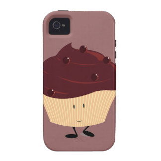 Smiling chocolate frosted cupcake iPhone 4/4S covers