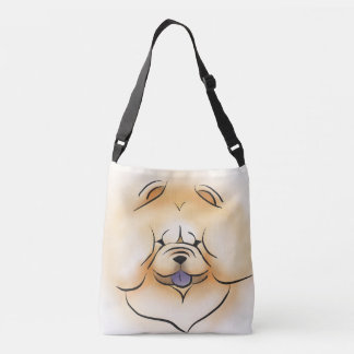 SMILING CHOW  tote or cross body bag - both sides