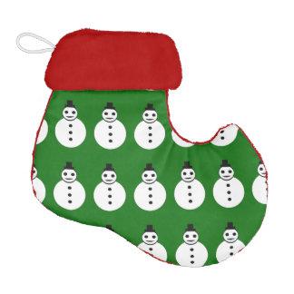 Smiling Christmas Snowman Christmas Stocking Elf Christmas Stocking