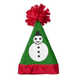 Smiling Christmas Snowman Custom Santa Hat