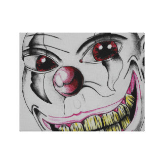 Smiling Clown Stretched Canvas Prints