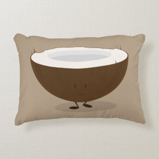 Smiling Coconut Decorative Cushion
