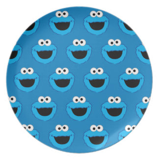 Smiling Cookie Monster Pattern Plate