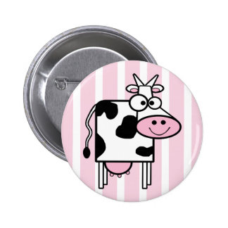 Smiling Cow Funny Animal Print 6 Cm Round Badge