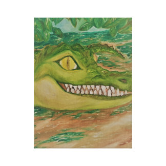 Smiling Crocodile on Canvas