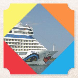 Smiling Cruise  Ship Paper Coaster