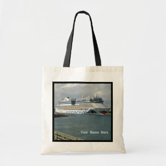 Smiling Cruise Ship Personalized Budget Tote Bag