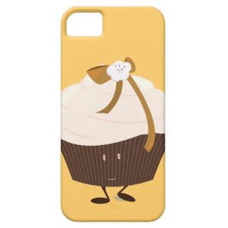 Smiling cupcake with flower and bow iPhone 5 cover