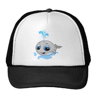 Smiling cute baby whale cap