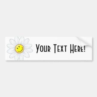 Smiling Daisy Flower Bumper Sticker