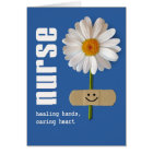 Smiling Daisy. Thank You Nurse Greeting Card