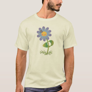 Smiling Daisy with Butterfly T-Shirt
