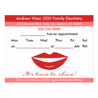 Smiling Dental Appointment Reminder postcard
