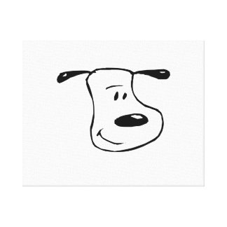 Smiling Dog Face Canvas Print
