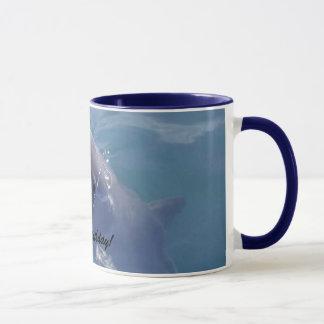 Smiling Dolphin  Happy Birthday! Mug