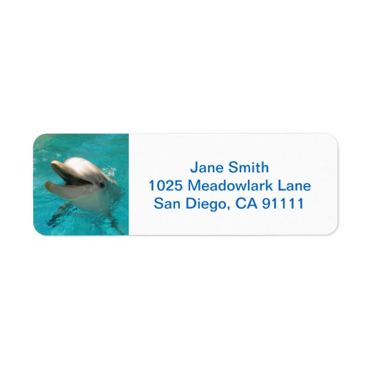 Smiling Dolphin Return Address Label