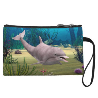 Smiling Dolphin Wristlet Clutches