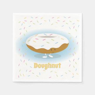 Smiling Donut with Sprinkles | Paper Napkin