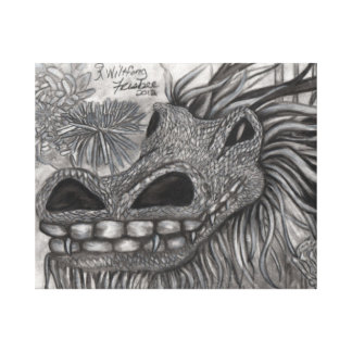 Smiling Dragon Gallery Wrapped Canvas