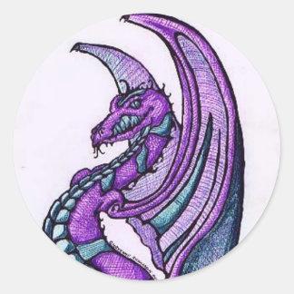 Smiling Dragon Sticker/Envelope Seals Round Sticker