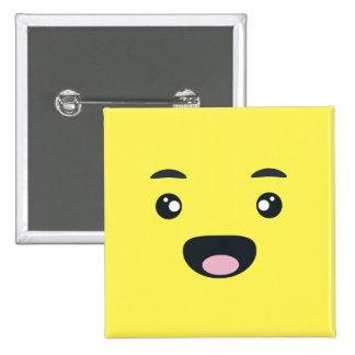 Smiling Emoji 15 Cm Square Badge