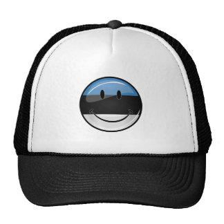 Smiling Estonian Flag Cap