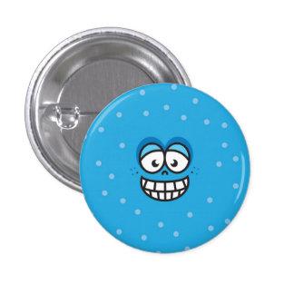 Smiling Face - Blue Button 2