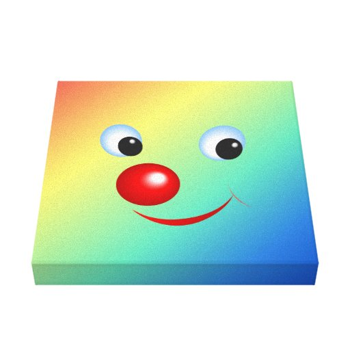 Smiling Face Stretched Canvas Print