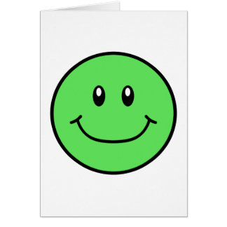Smiling Face Card Green 0001