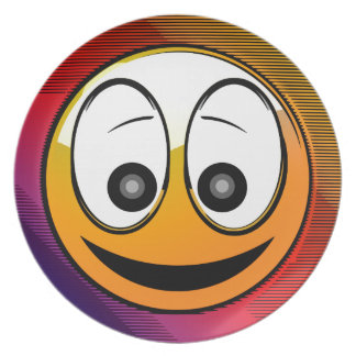 Smiling Face Character Plates