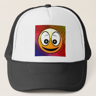 Smiling Face Character Trucker Hat