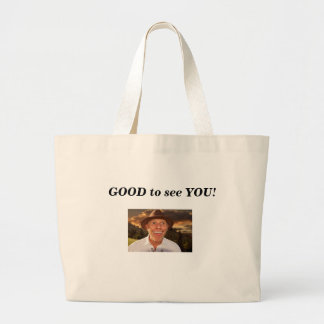 Smiling face large tote bag