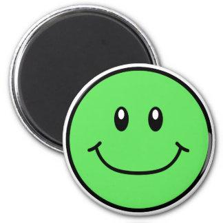 Smiling Face Magnet Green 0001