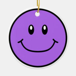 Smiling Face Ornament Purple 0001