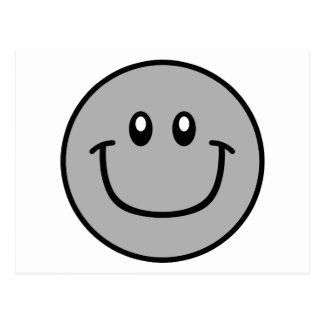 Smiling Face Postcard Grey 0003