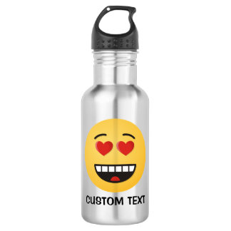 Smiling Face with Heart-Shaped Eyes 532 Ml Water Bottle