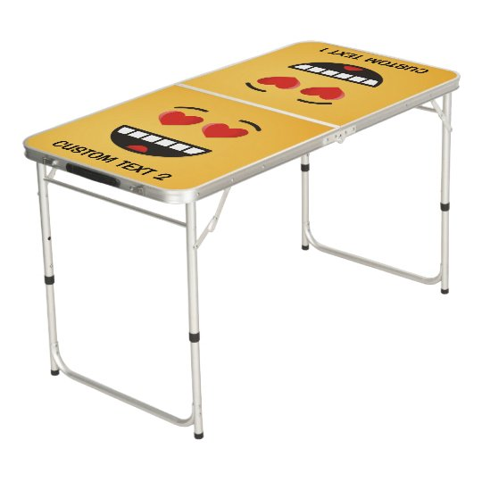 Smiling Face with Heart-Shaped Eyes Beer Pong Table